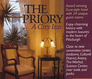 ad for Priory Hotel