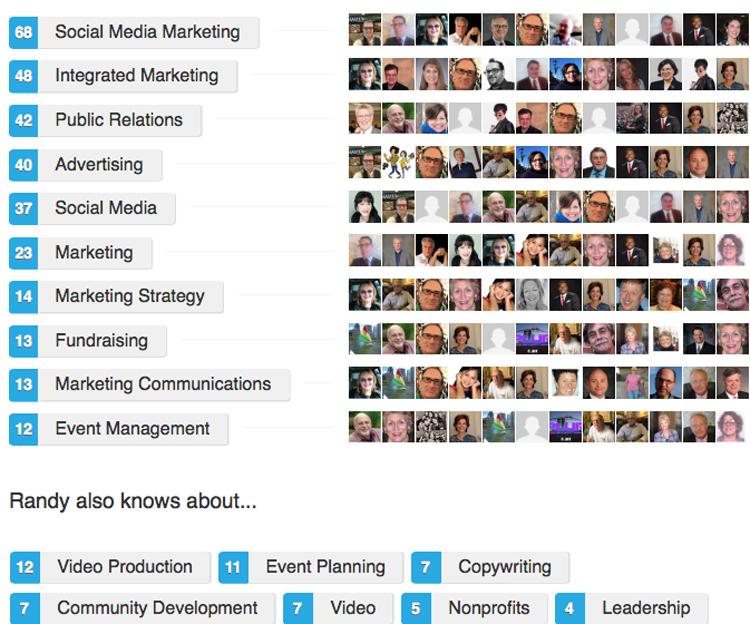 Strothman LinkedIn endorsements