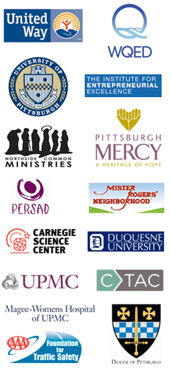 Pittsburgh nonprofit fundraising client logos