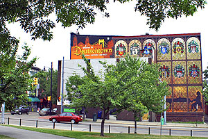 Deutschtown branding mural