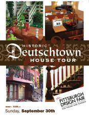 Vistaprint marketing poster for Deutschtown House Tour