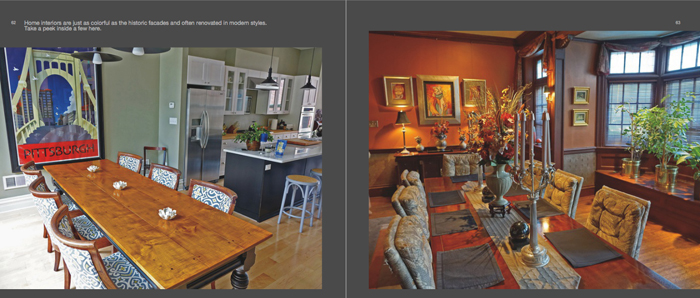 Colors of Pittsburgh photo book, historic home interiors