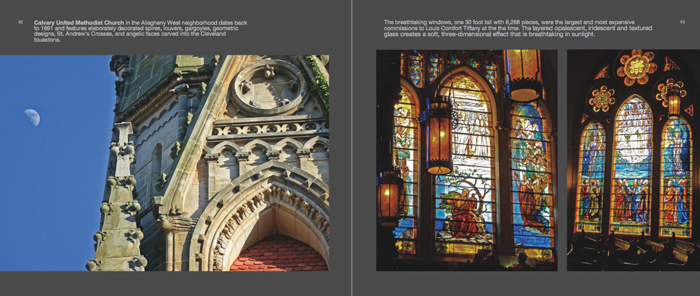 Colors of Pittsburgh photo book, church with Tiffany windows