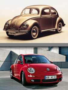 the old and the new VW bug