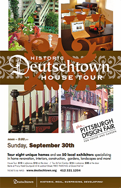 Deutschtown house tour poster