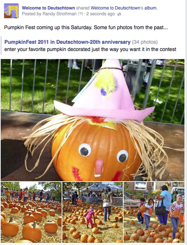 Deustschtown community promotion- Pumpkin Fest
