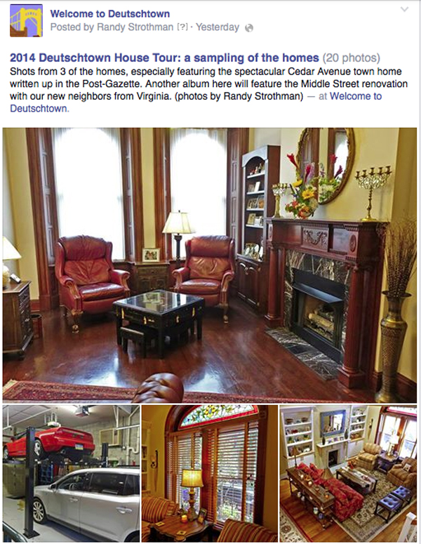 photo promotion of Deutschtown house tour 1