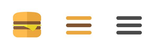 website design trends - hamburger menu