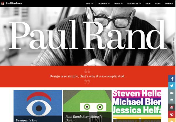 website design trends - large type