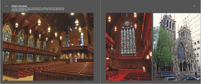 Colors of Pittsburgh photo book in Downtown, churches