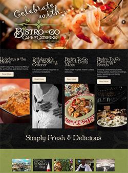 Bistro restaurant website